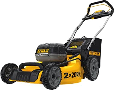 Amazon Com Dewalt 20v Max Lawn Mower 3 In 1 2 Batteries Dcmw220p2 Garden Outdoor