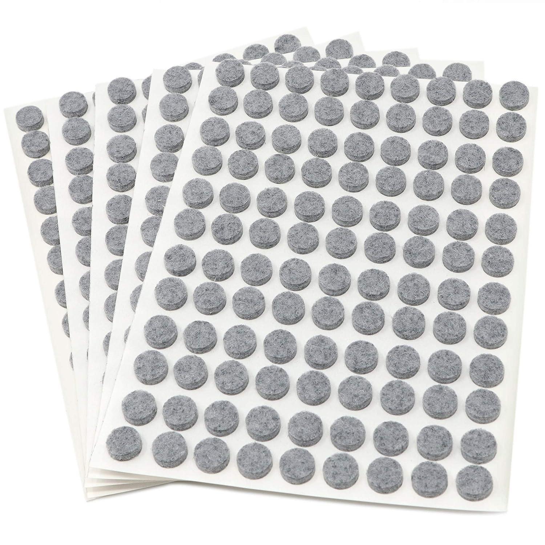 redondo /Ø 10 mm gris con grosor de 3,5 mm de la m/áxima calidad 540 x almohadillas de fieltro auto-adhesivos Adsamm/® Protectores de suelo para patas de mueble
