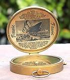 Vintage Titanic Lid Compass Brass