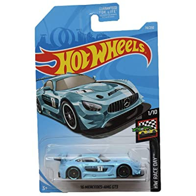 Hot Wheels Race Day Series 1/10 '16 Mercedes AMG GT3 74/250, Blue: Toys & Games