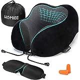 HOMIEE Almohada Cuello de Caracol 100% de Viaje de Memoria, diseñada ergonómicamente, Transpirable y extraíble, con…