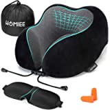 HOMIEE Memory Foam Travel Pillow The Best Neck Pillow with 360 Head and Neck Support Soft Pillow Perfect for Travelling…