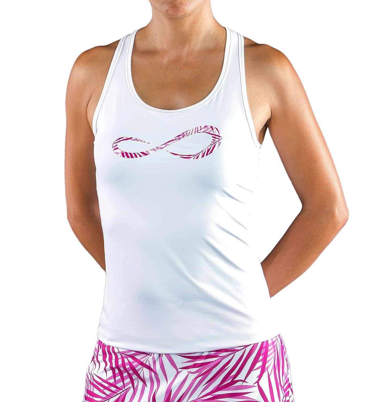 Endless Infinity Palms Top de Tenis, Mujer, Blanco, M: Amazon.es: Deportes y aire libre