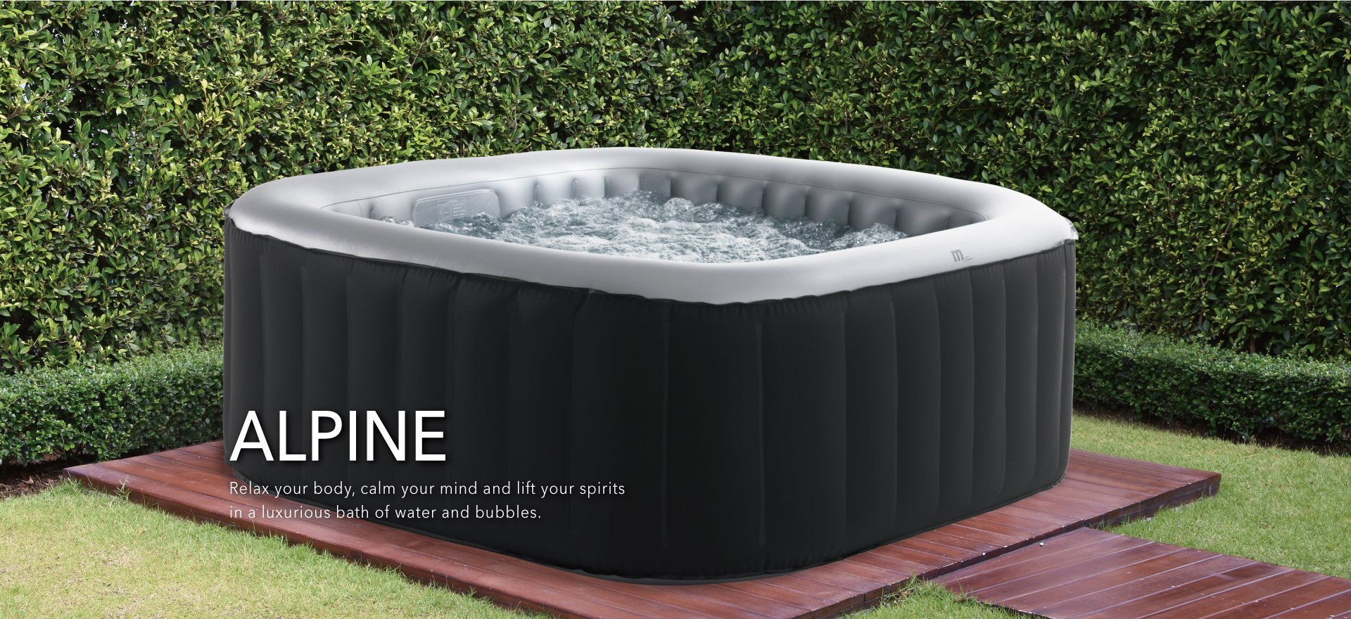 MSPA Lite Alpine Square Relaxation and Hydrotherapy Outdoor Spa M-009LS by M-SPA (Image #4)