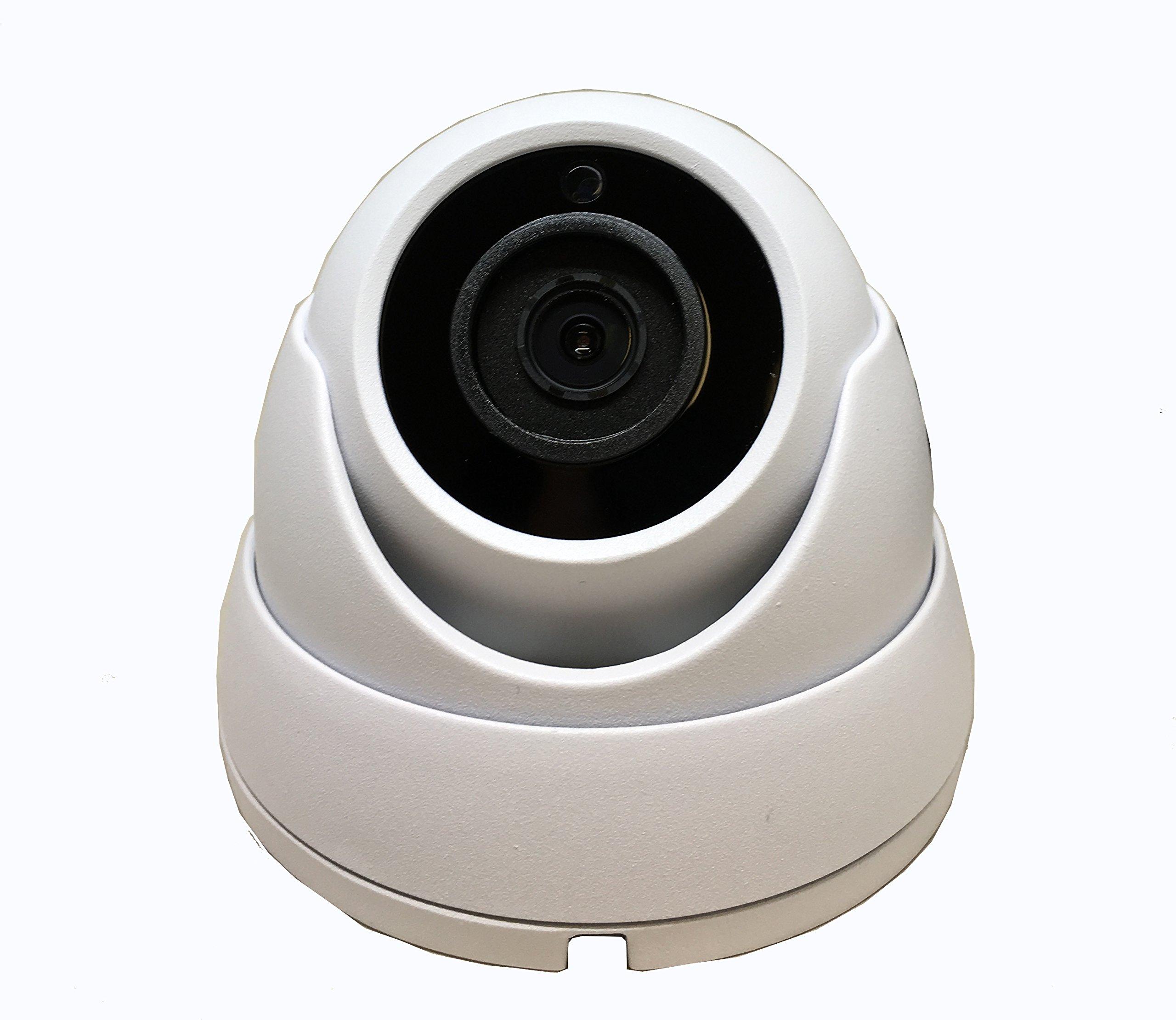101AV Security Dome Camera 1080P 1920x1080 True Full-HD 4in1(TVI, AHD, CVI, CVBS) 3.6mm Fixed Lens 2.4 Megapixel STARVIS Image Sensor In/Outdoor Smart IR DWDR Surveillance Home Office (White) by 101 AV Inc