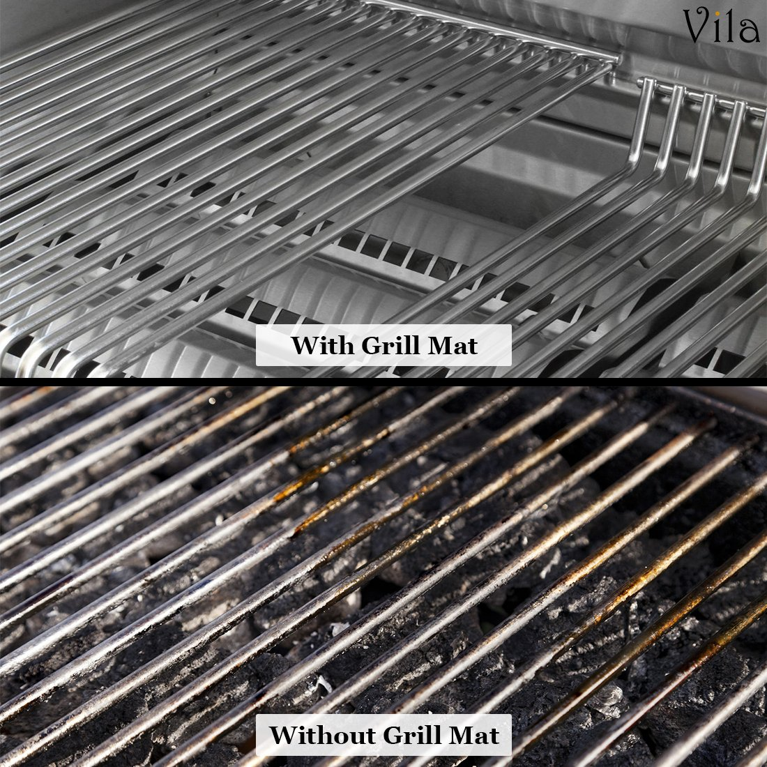 2 Reusable BBQ Grill Mats -- High temperature resistant up to 500° Fahrenheit - Heavy-Duty, Easy to clean - Ideal for charcoal grills, electric ovens, microwaves and smokers - Great gift for BBQ Lover
