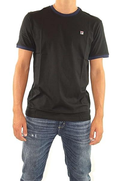 a48c661e3191 Mens Fila Marconi Black Crew Neck T Shirt - S  Amazon.co.uk  Clothing