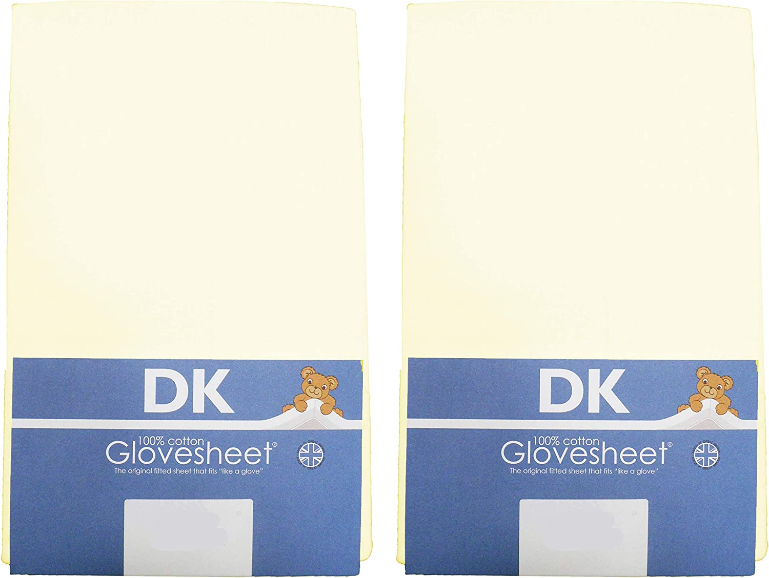 CREAM TWO PACKS DK Glovesheets Two Fitted Moses Basket Sheets 100/% Combed Jersey Cotton To Fit Mattress Size 69 x 30 cm
