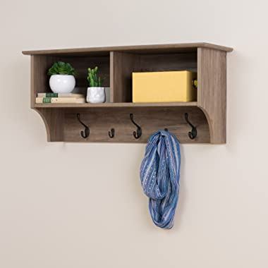 Prepac 36  Wide Hanging Entryway Shelf, 36 inches, Drifted Gray
