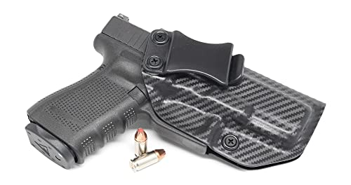 Concealment Express IWB KYDEX Gun Holster: fits GLOCK 19 23 32 (Gen 1-5)- Custom Molded Fit - US Made - Inside Waistband Concealed Carry Holster - Adj. Cant & Retention