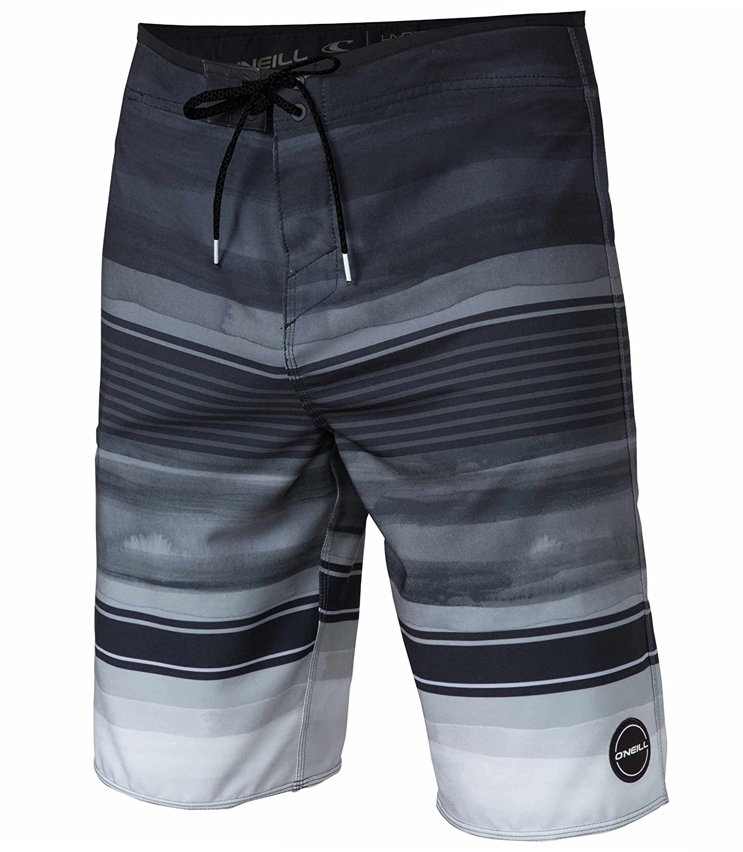 O'Neill Men's Heist Boardshort Expression Black 30 Phantom Aquatics SP8106114Q-BLK-30