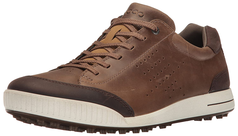 ECCO Men's Street Retro Hydromax Golf Shoe B01KIIGDPE 45 M EU (11-11.5 US)|Birch/Coffee
