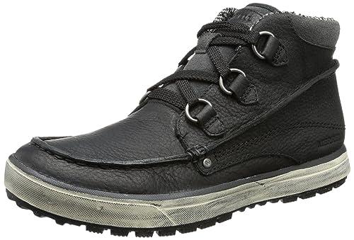 Merrell Mens REZE MID Chukka Boots Black Schwarz (BLACK/IVORY) Size: 50