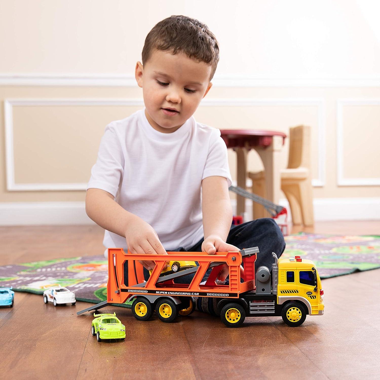 Spielzeug zum Genießen von Autoträger LKW mit Licht und