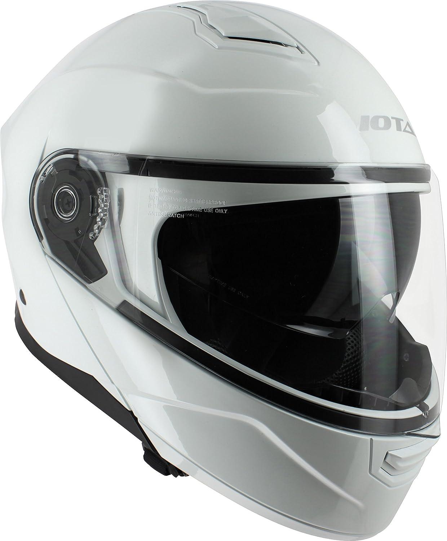 Taille XL Noir Mat iOTA Casque Moto Modulable
