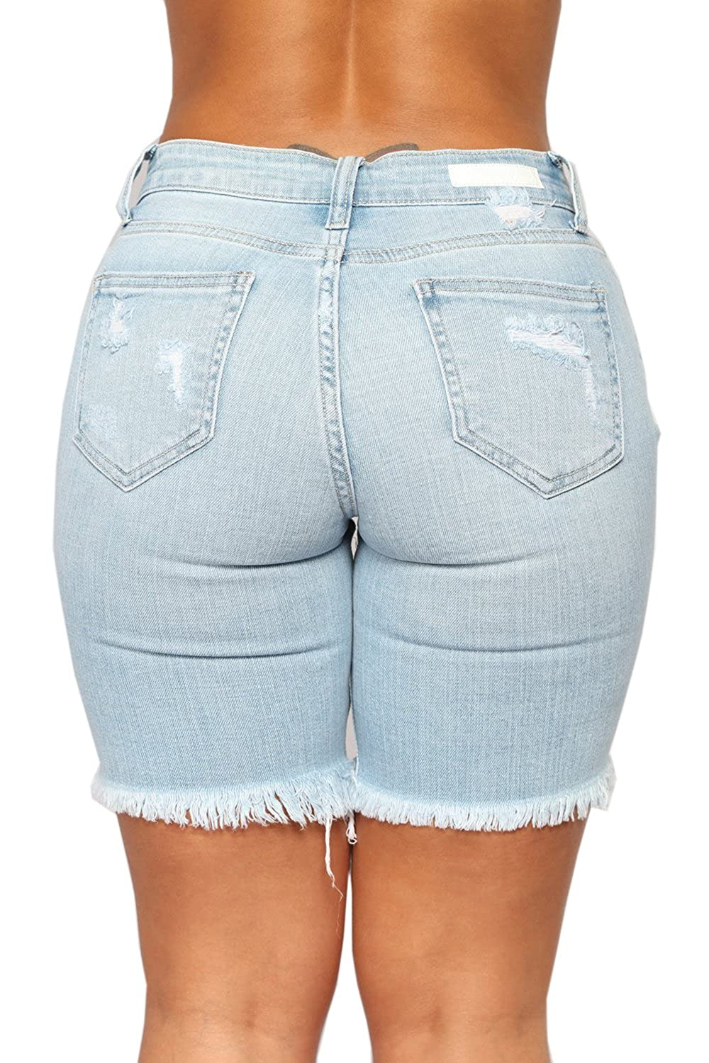 Women's Clothing Sincere Ripped Hole Fringe Denim Shorts Women Casual Pocket Jeans Shorts 2019 Summer Female Wide Leg Hot Shorts Button Attractive Designs; Bottoms