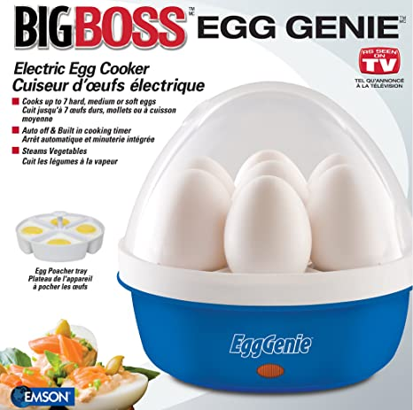 Amazon Big Boss 8865 Genie Electric Egg Cooker Blue Egg
