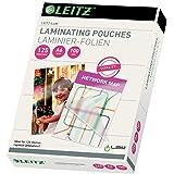 Leitz Heißlaminierfolien, Glänzend, transparent, A6, Folienstärke 125 mic, 100er Pack, 33806