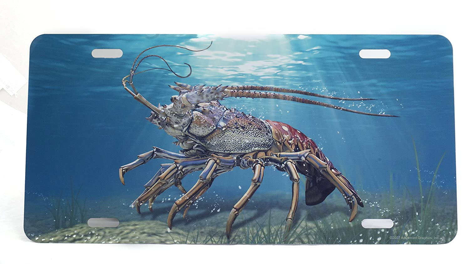 Air Brush Lobster Plate Blue Exterior Accessories