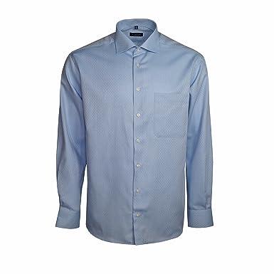 dc19a4d9907c6c eterna Herrenhemd Langarm Comfort Fit Blau Businesshemd Büro Hemd Freizeit  Hemden Bügelfrei Baumwolle  Amazon.de  Bekleidung