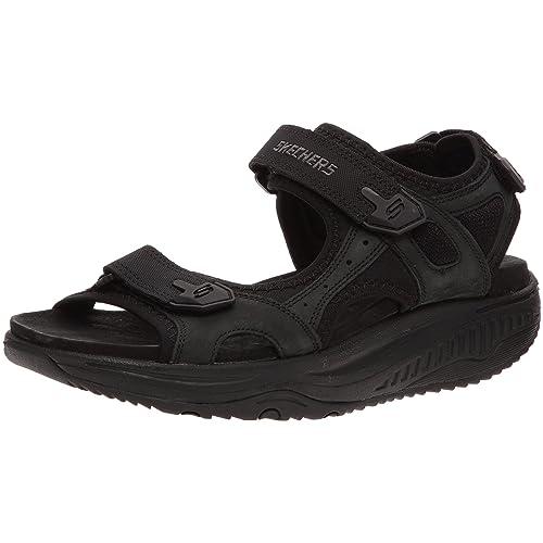 Para Cuero De Relaxer Ups Sandalias Shape Skechers Xw hrdtQsC