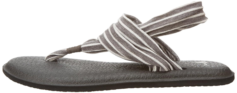 Sanuk Zehentrenner, Damen Yoga Sling#2 Prints Zehentrenner, Sanuk schwarz/grau 5aba74