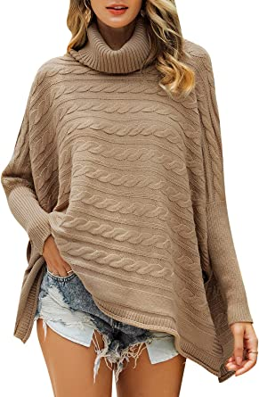 MsLure Womens Crew Neck Long Sleeve Loose Knit Pullover Sweater Jumper