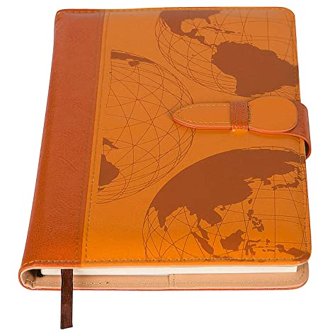 Amazon the world map refillable writing journal faux leather the world map refillable writing journal faux leather cover magnetic clasp pen loop gumiabroncs Choice Image