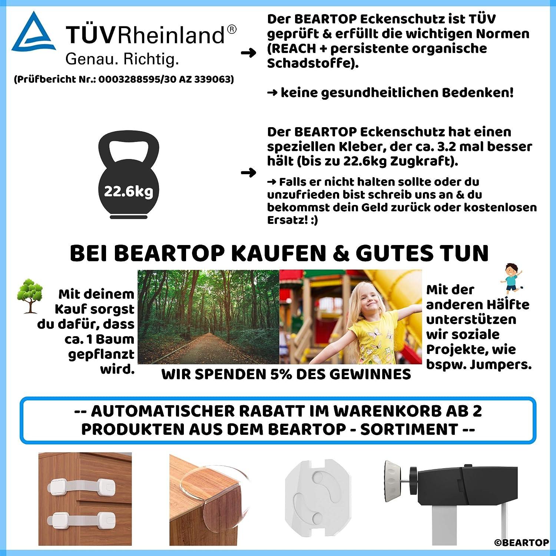 3.2 x besser 100/% ERSATZGARANTIE T/ÜV Rheinland gepr/üfter Ersatzkleber f/ür Eckenschutz von BEARTOP 2019 | r/ückstandslose Entfernung verbesserter Power Kleber geruchsneutral