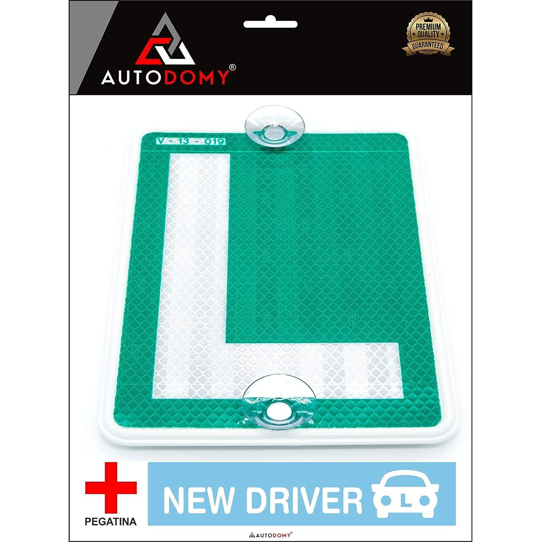 Amazon.es: Autodomy Placa L Conductor Novel con Ventosas ...