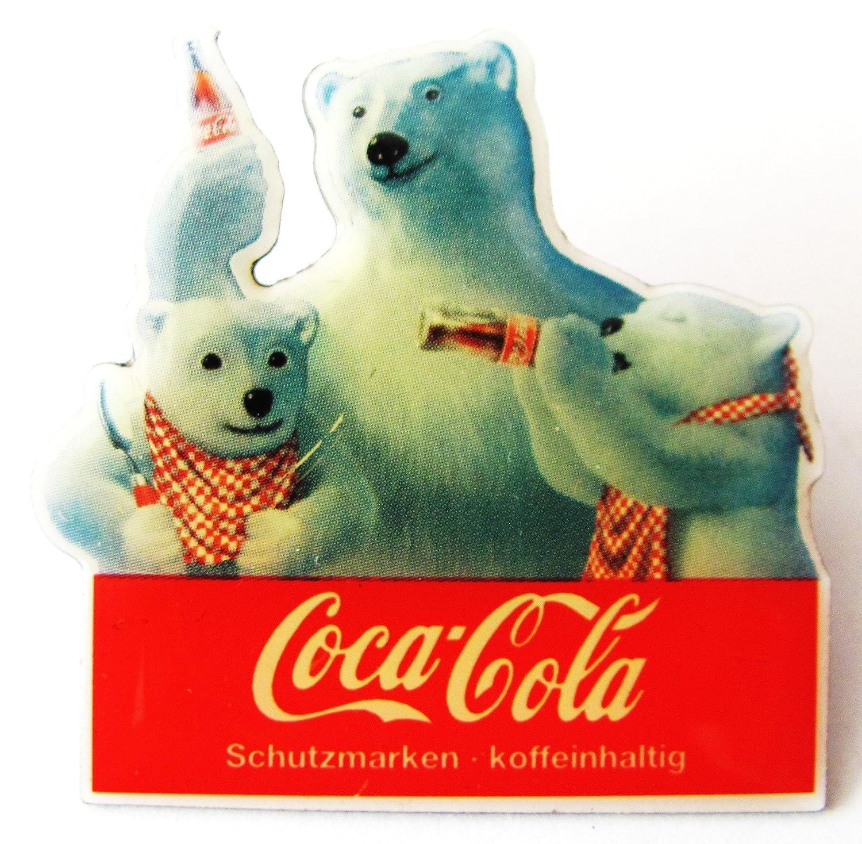 Coca Cola - 3 Bä ren Trinken Cola - Pin 33 x 33 mm Unbekannt