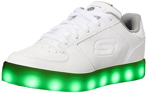 Skechers Energy Lights, Zapatillas para Bebés, Blanco (White), 21 EU