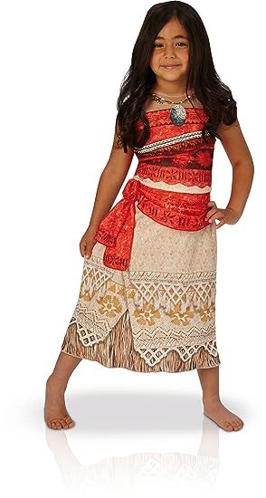 Disney Moana - Disfraz de Vaiana para niña, infantil 5-6 años (Rubies 630511-M)