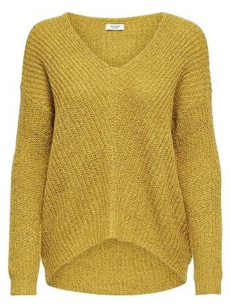 JACQUELINE de YONG Damen Pullover Strickpullover V Ausschnitt JDY Megan  15161280 golden Spice Gr.L f8e136135d