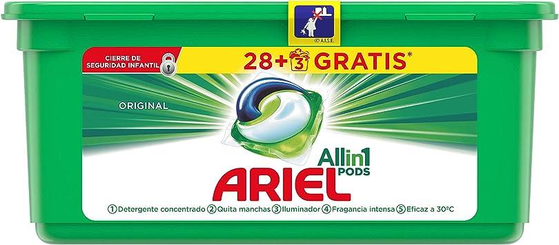 Ariel Todo en Uno Pods Original Detergente en Cápsulas, 30 Lavados ...