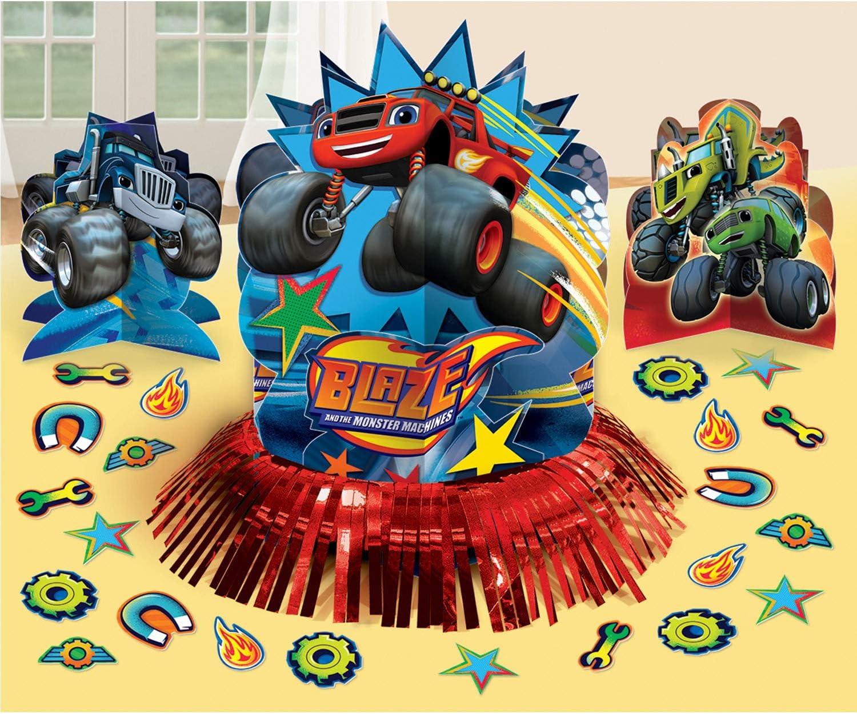 Amscan – 281582 Blaze Kit de decoración de mesa: Amazon.es: Juguetes y juegos