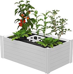 Vita Gardens VT17102 Classic Keyhole Garden, 3'X5', White