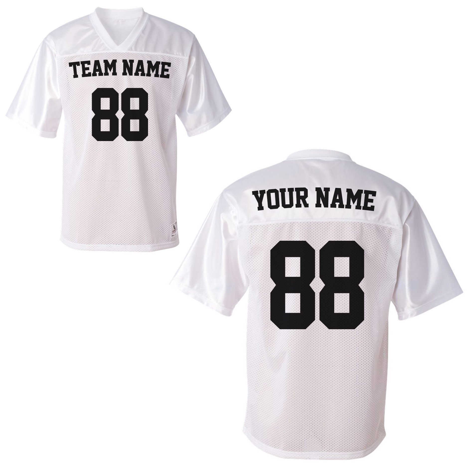 ea8f7578b Galleon - Custom Sports Jerseys - Make Your OWN Jersey Shirts - Personalized  Team Uniforms White