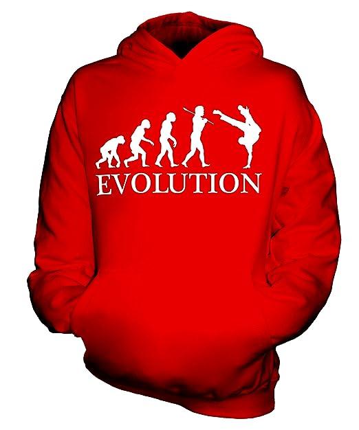 Baile Callejero Evolution of Man - Sudadera Infantil - Niño/Niña/infantil - algodón, Strawberry Encaje, 80% algodón 20% poliéster, De Niño, 3-4 Años: ...
