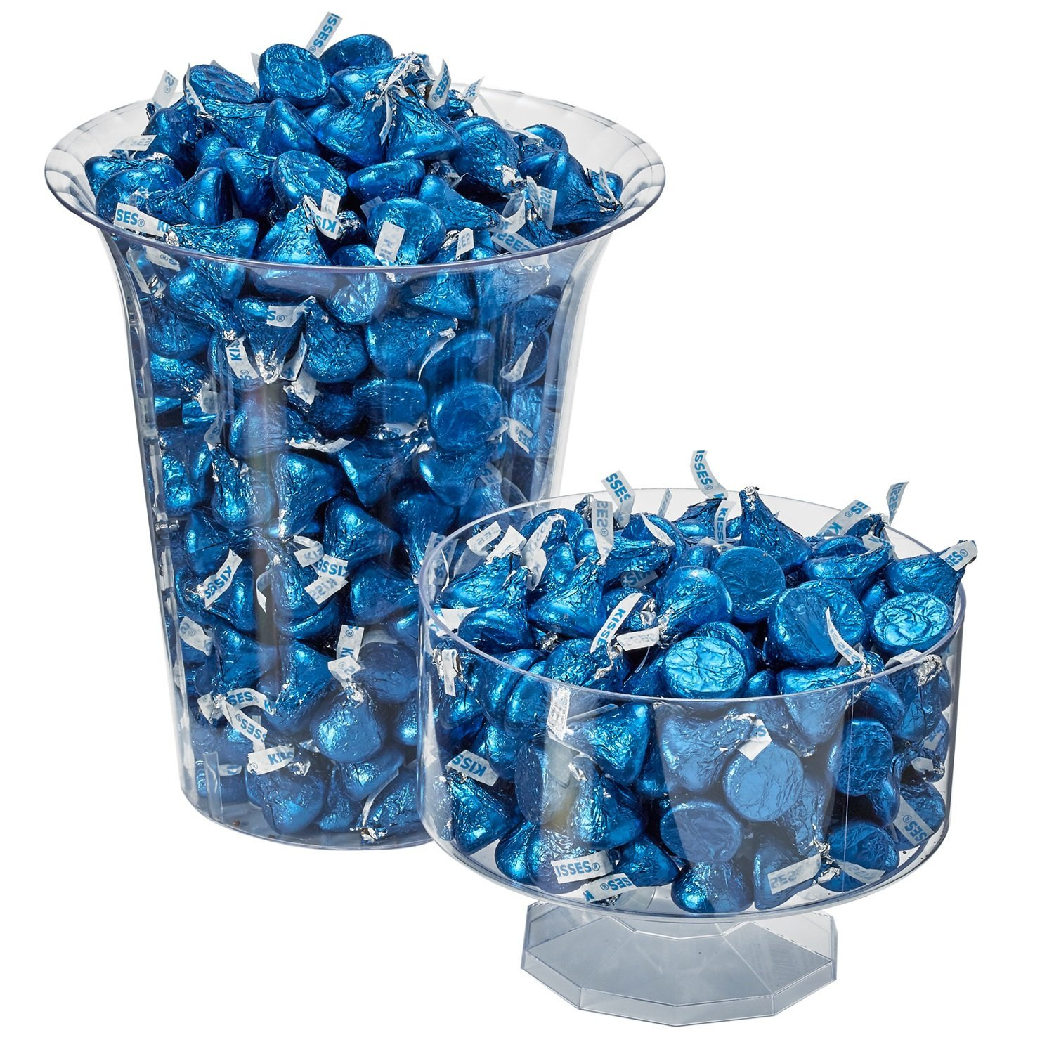 HERSHEY'S KISSES Chocolate Candy, Dark Blue Foils, 4.1lb Bulk Candy, approx. 400 Pieces. Perfect for Graduation and 4th of July Decorations by Kisses (Image #10)