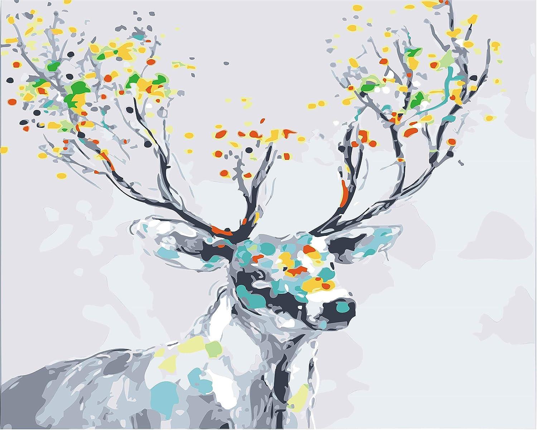 ペイントバイナンバーキット 大人 子供用 – 塗装 Dunhuang Fescoes Art 16 x 20インチ リネンキャンバス Framed 11281217 Framed スタイル4 B07KXP785Y