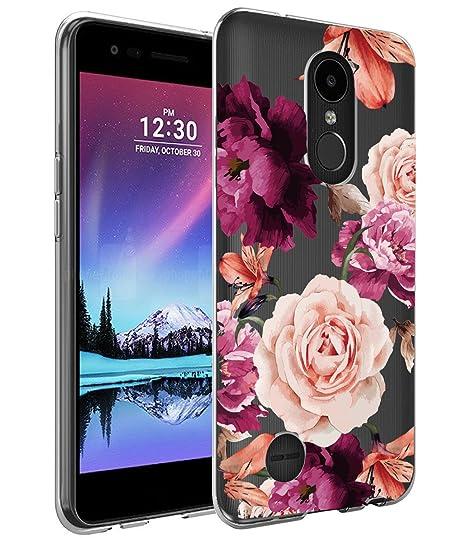 best cheap 91111 44bd8 LG K20 Plus Case, LG K20 V Case with Flowers, BAISRKE Slim Shockproof Clear  Floral Pattern Soft Flexible TPU Back Cove for LG K20 Plus/LG K20 V/LG ...