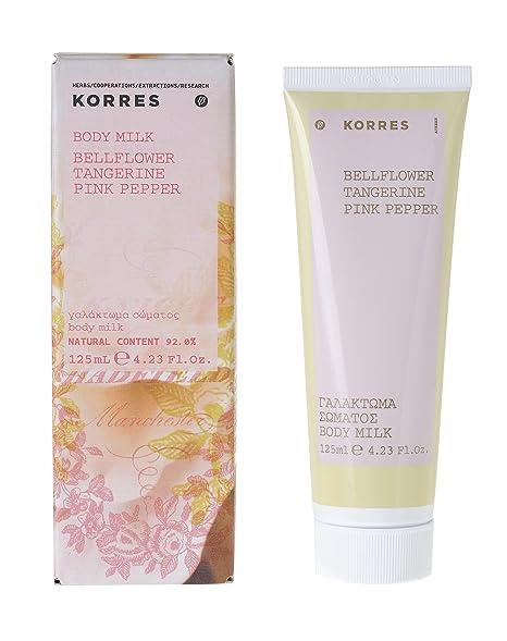 KORRES - Crema corporal hidratante y energizante de mandarina, pimienta rosa y bellflower, 125
