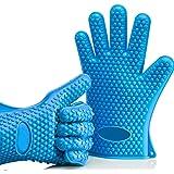 Fullthings 5指クッキンググローブ 男女兼用左右対称耐熱温度220℃耐熱BBQグローブ手袋バーベキュー手袋
