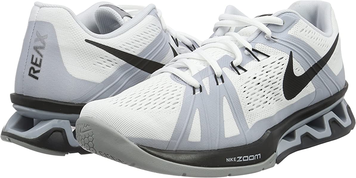 on sale c8d50 166b4 Amazon.com   New Nike Mens Reax Lightspeed Cross Trainer White Black 9    Fitness   Cross-Training