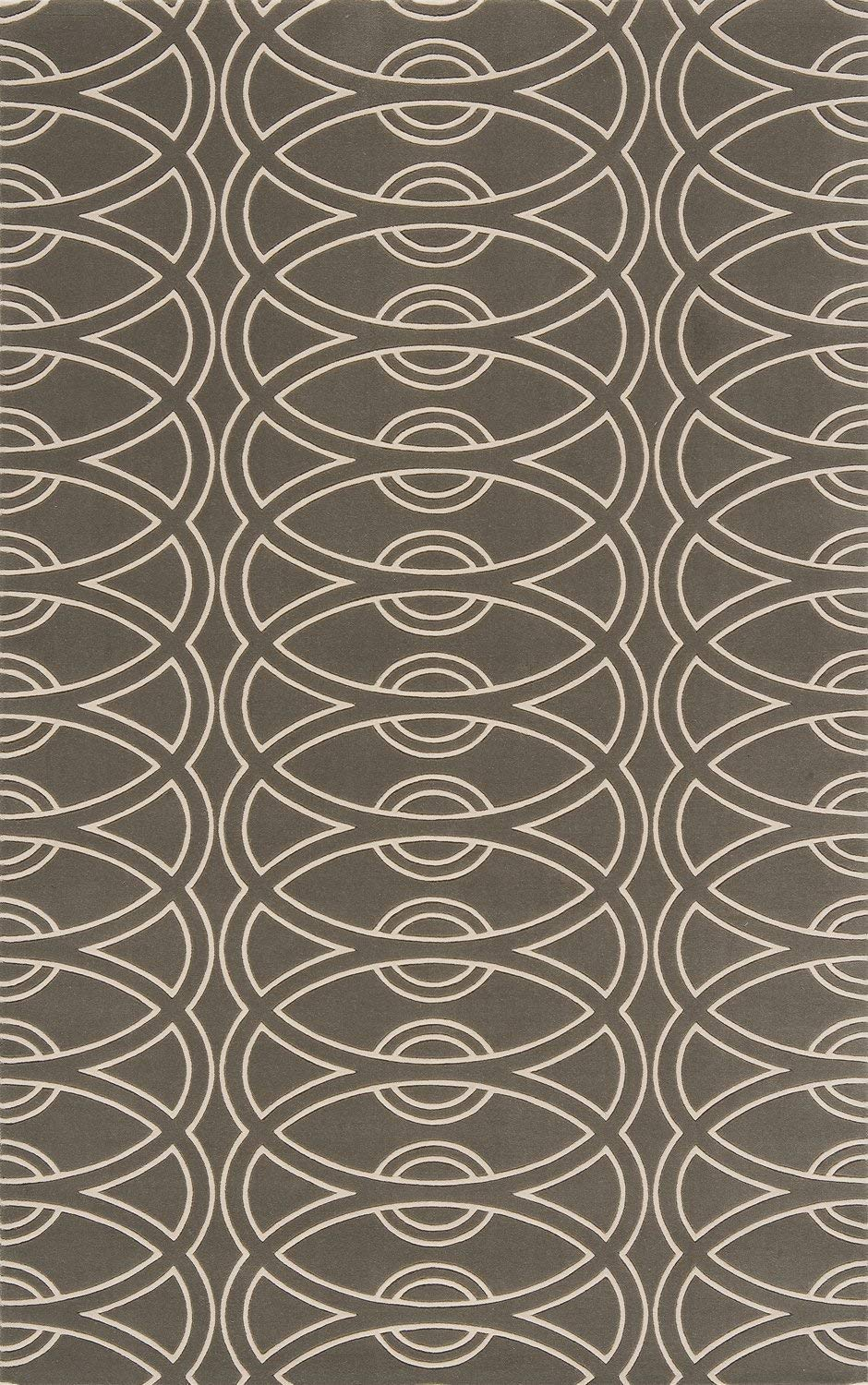 Grey 100/% New Zealand Wool Hand Carved Contemporary Area Rug Momeni Rugs ELEMTEL-29GRY3050 Elements Collection 3 x 5