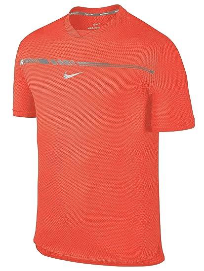 995e9531 Nike Mens Challenger Premier Rafa T-Shirt Tee Shirt (Medium, Hot Punch) at  Amazon Men's Clothing store: