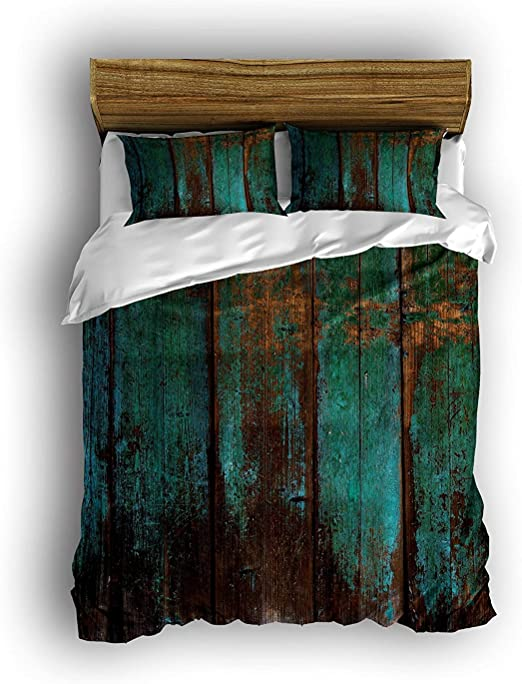 7 piece Teal King set Woods Camo King size comforter sheets and pillowcases
