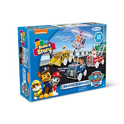 Nickelodeon Build A Story Paw Patrol Rescue Vehicles Building Playset, Multi-Color: Toys & Games