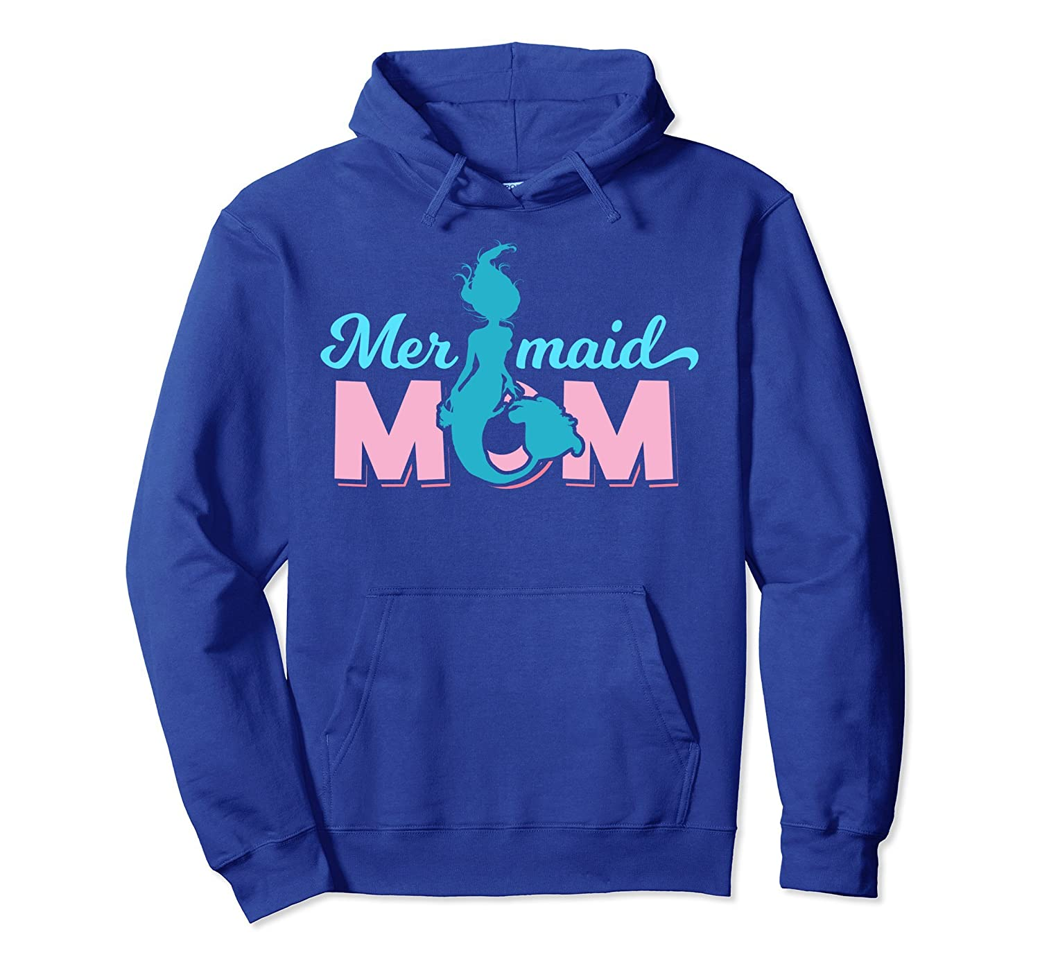 Mermaid Mom Mermom Hoodie Cute Mermaid Birthday Party Gift-alottee gift